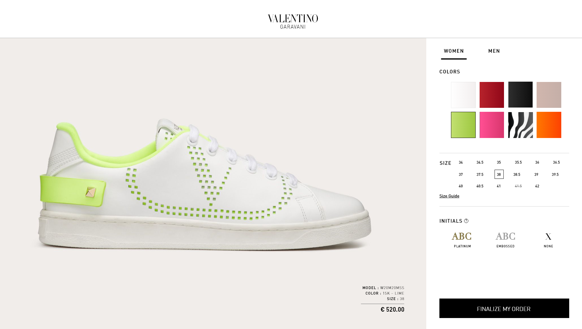 3D shoe Configurator, 3D shoes, Photorealistic 3d visuals of shoes, Valentino