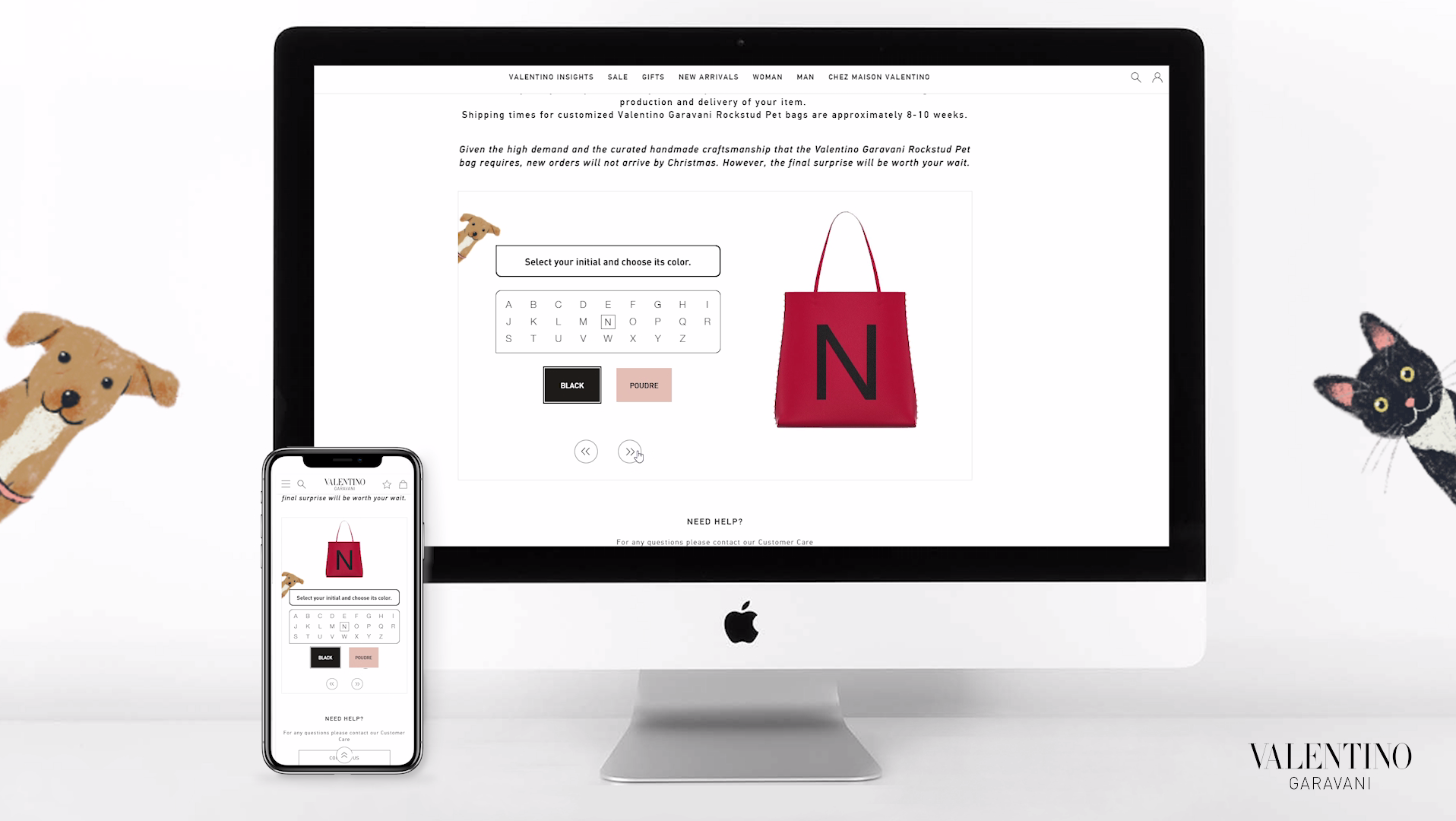 3d configurator for bags, Valentino Rockstud pet customization experience