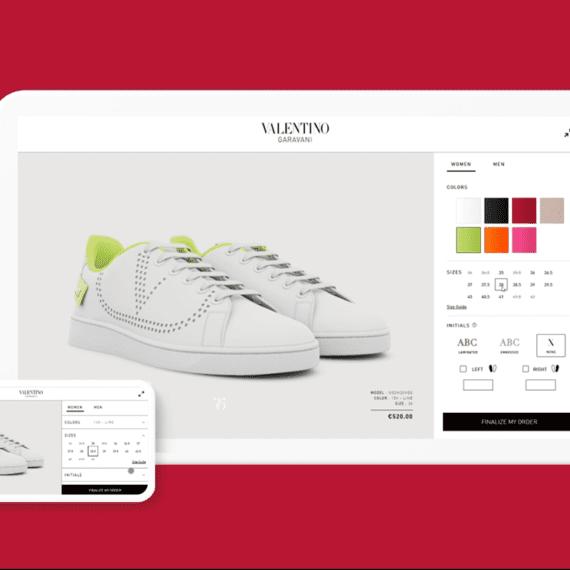 Configurateur produit interactif backnet Valentino